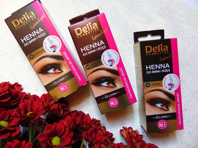 Delia COSMETICS - Henna do brwi i rzęs - Efekt farbowania henną