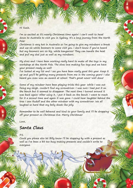letter from santa claus santa claus letters letters for santa claus santa claus 25198