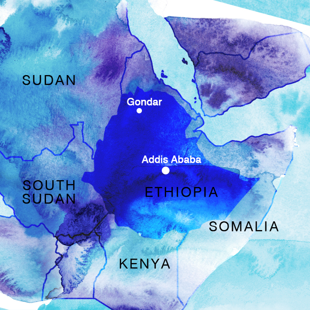 Blue Dot Travel Gondar Ethiopia Once A City Of Emperors And - Gondar map