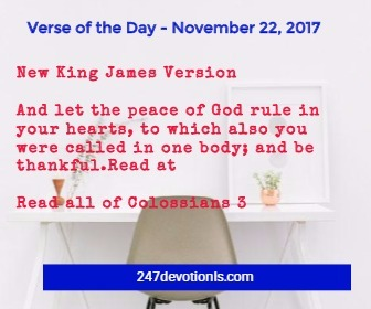 Verse of the Day - November 22, 2017