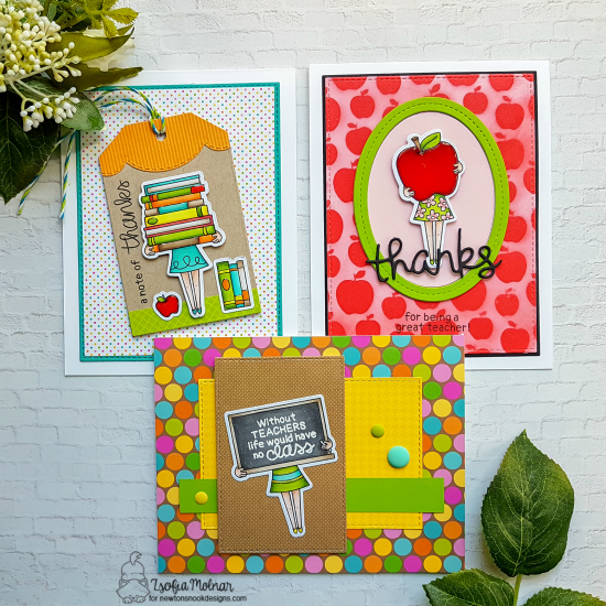 Teacher Cards by Zsofia Molnar | Classy Teachers Stamp Set by Newton's Nook Designs #newtonsnook #handmade #teachercards