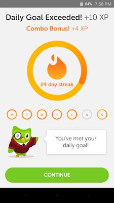 Duolingo daily streak