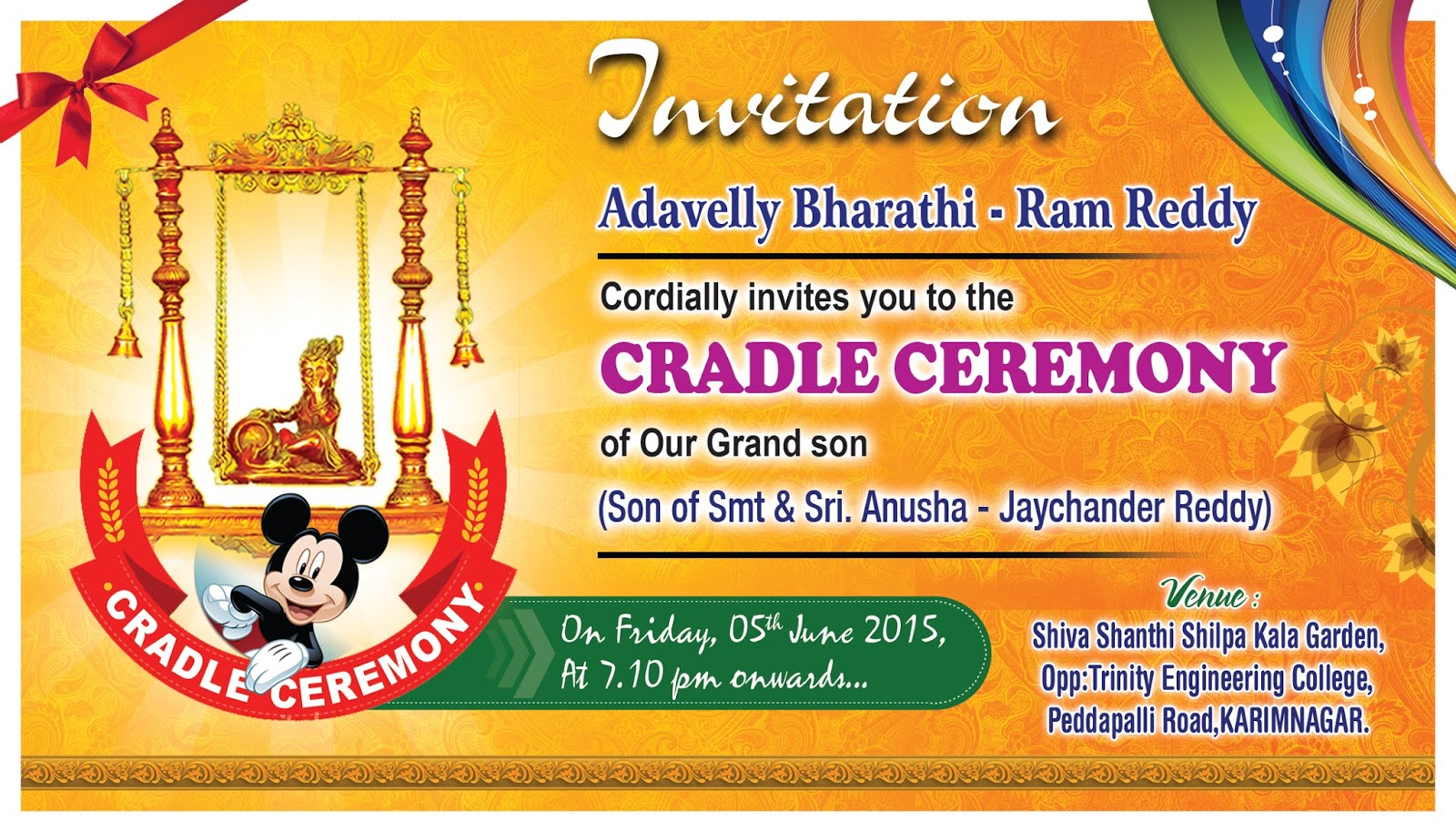 Cradle ceremony invitation card psd template free downloads hindu naming ceremony invitation wording psd template free downloads stopboris Gallery