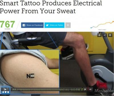 Tattoo Ini Bisa Hasilkan Daya ke Ponsel dari Keringat