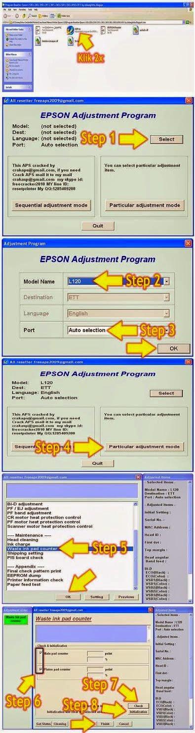 Adjusment Program Epson L120 Resetter Free