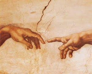 "MICHELANGELO Buonarroti Simoni - ""Creation of Adam"" (Sistine Chapel's ceiling detail)"