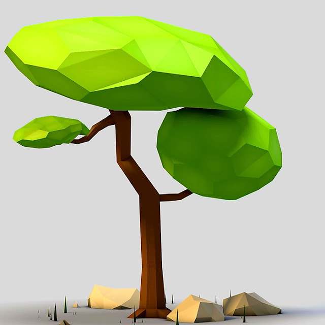 Low Poly Tree Wallpaper Engine