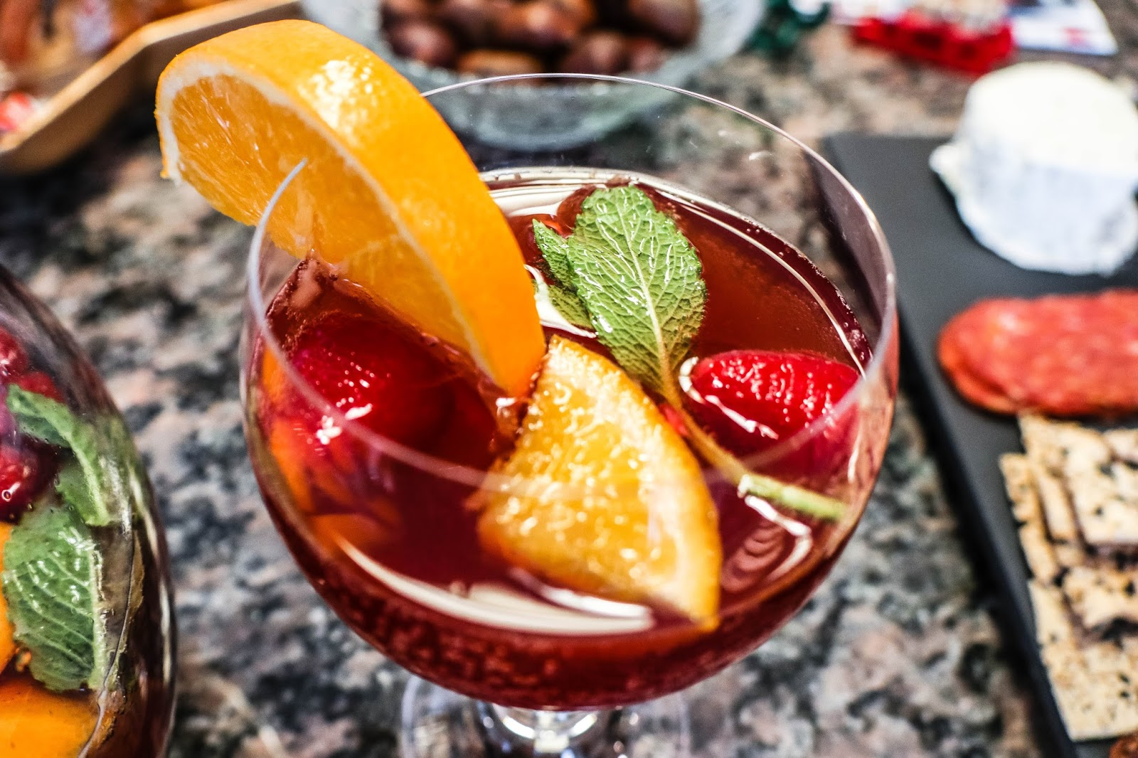 christmas holiday sangria recipe orange pomegranate