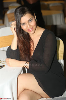 Kyra Dutta in black At Rogue Movie Audio Launch ~  081.JPG