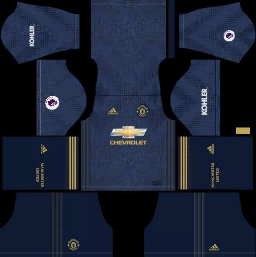 wholesale dealer 5f5c7 34101 Mike Julian: Kit dan Logo Manchester United 2018/2019 untuk ...
