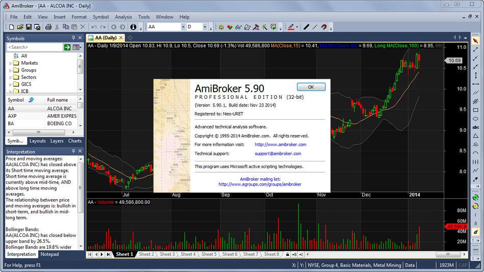 AmiBroker 5.90.1 Crack Download