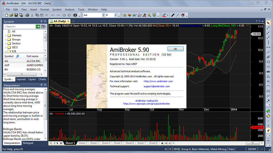 AmiBroker 5.90.1 Free Download