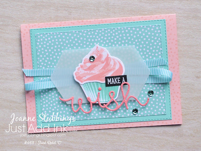 Jo's Stamping Spot - Just Add Ink Challenge #468 using Sweet Cupcake bundle by Stampin' Up!