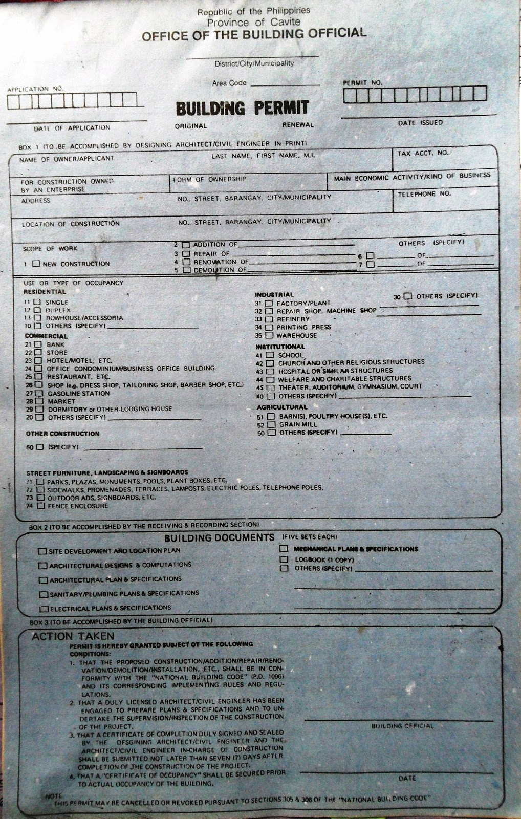 Ang Pananaw ng Isang Simpleng Inhinyero HOW TO APPLY FOR A BUILDING PERMIT IN THE PHILIPPINES