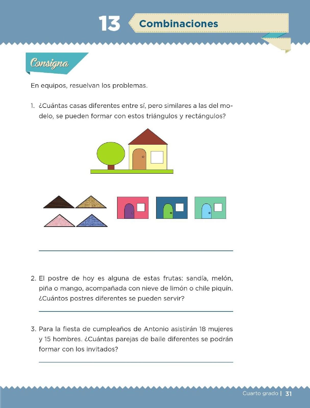 Desafios Matematicos 4 Grado Pdf : desafios, matematicos, grado, Combinaciones, Bloque, Lección, Apoyo, Primaria