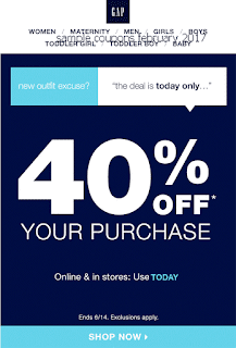 free Gap coupons february 2017