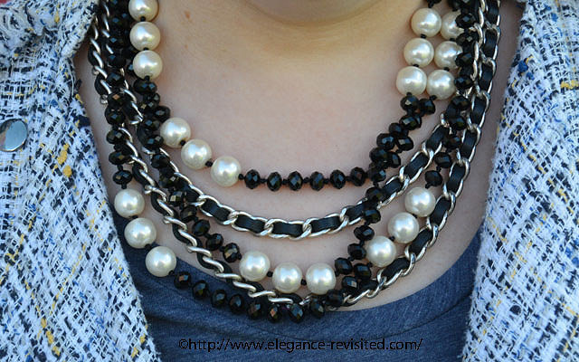 accessorizing with a necklace