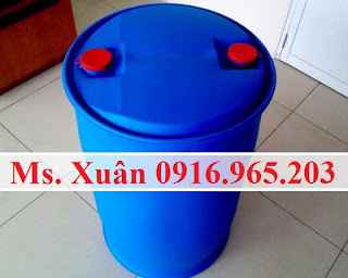 Phuy nhựa mới 220L nắp kín, bán phuy nhựa kín 220L