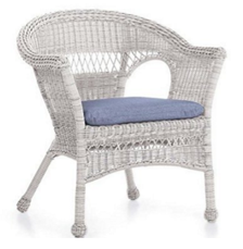 Easy Care Resin Wicker Chair, in White