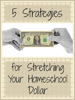 5 Strategies for Stretching Your Homeschool Dollar - keeping the cost of homeschooling under control! Here are some tips to help - on The Homeschool Post @ hsbapost.com courtesy of Homeschool Coffee Break @ kympossibleblog.blogspot.com