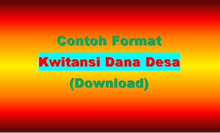 Contoh Format Kwitansi Dana Desa xls (Download Excel)