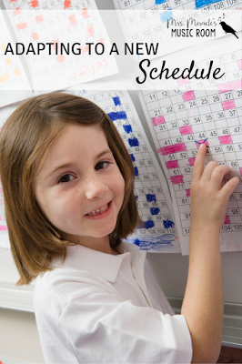 Adapting to a new schedule: Tips for special areas teachers to adapt to a new schedule, especially a block schedule and/or longer class periods!