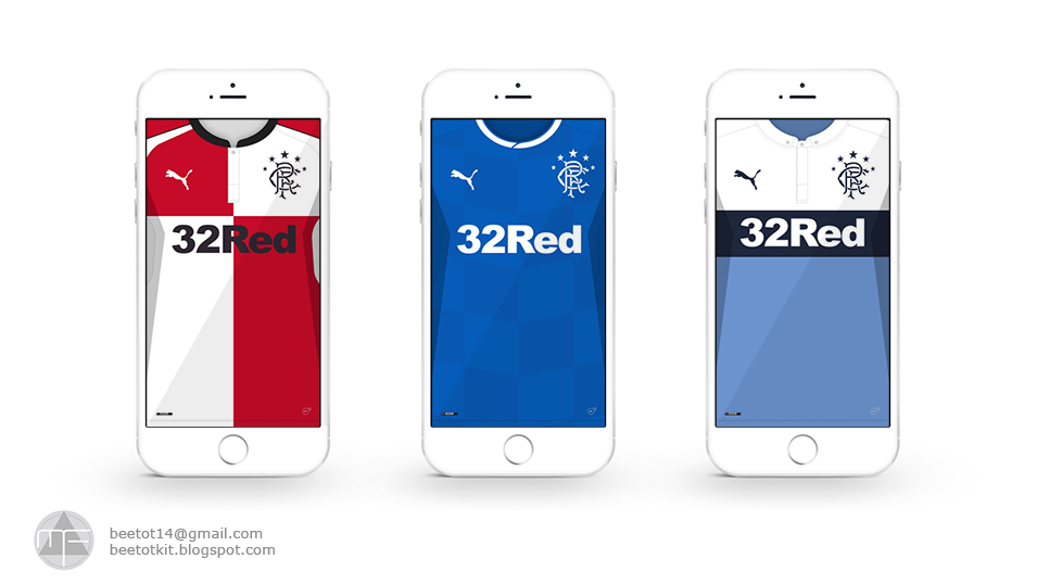 Glasgow Rangers Kit 1617 Iphone 6 Wallpaper