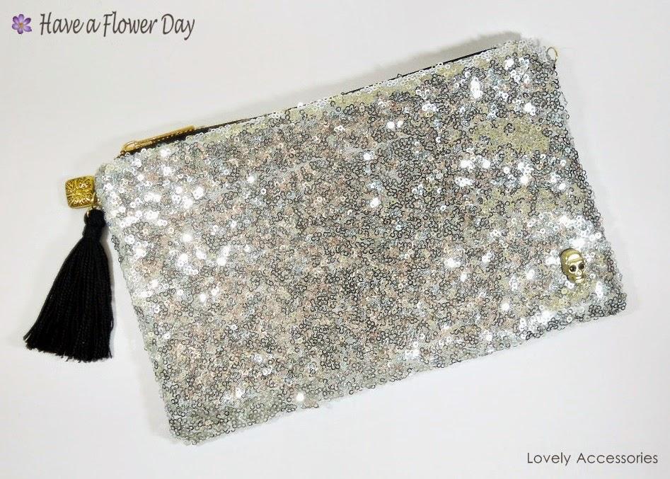 Cartera Lentejuelas Plateada · Silver Sequin Clutch