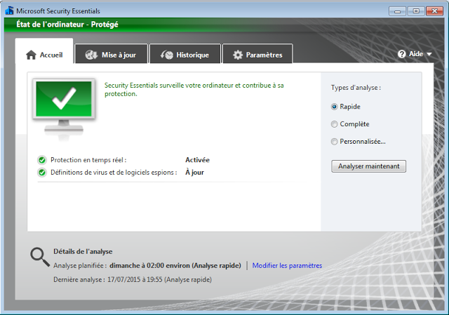 شرح تشغيل  Microsoft Security Essentials