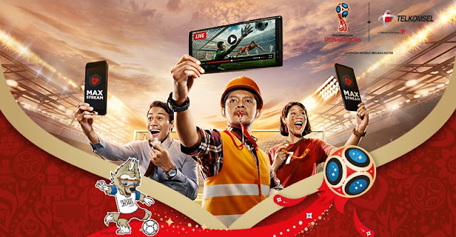 MAXstream: Layanan Live Streaming Piala Dunia 2018