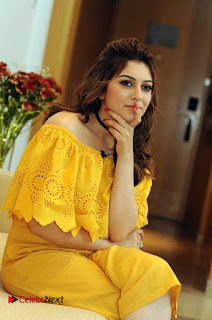 Actress Hansika Motwani Latest Stills in Yellow Dress  0002.jpg