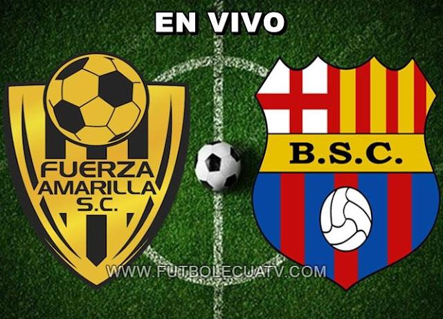Fuerza Amarilla recibe al Barcelona SC en vivo a partir de las 15h00 horario de nuestro país a efectuarse en el reducto nueve de mayo prosiguiendo la jornada seis de la Liga Pro Ecuador, siendo el árbitro principal Carlos Orbe con emisión del único medio autorizado GolTV.