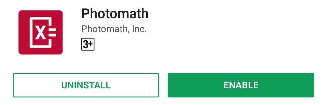 download Photomath from Google play store