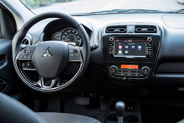 Interior view of 2017 Mitsubishi Mirage