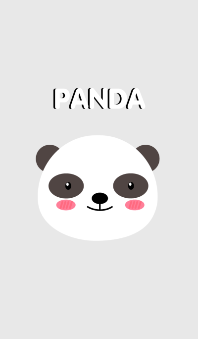 Simple Cute Face Panda Theme (jp)