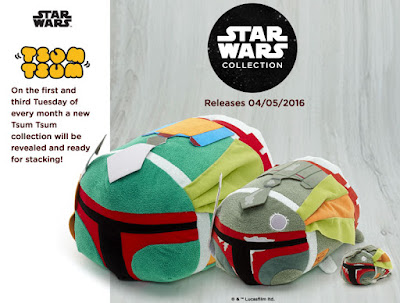 Star Wars Day 2016 Exclusive Boba Fett Tsum Tsum Plush Collection by Disney & the Disney Store