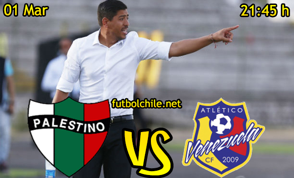 Ver stream hd youtube facebook movil android ios iphone table ipad windows mac linux resultado en vivo, online: Palestino vs Atlético Venezuela