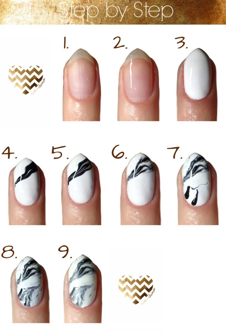 marmurkowe paznokcie jak wykonać