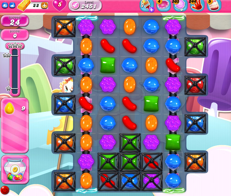 Candy Crush Saga level 2451