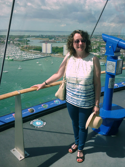 On the viewing deck of the Spinnaker Tower | Petite Silver Vixen