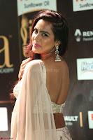 Prajna Actress in backless Cream Choli and transparent saree at IIFA Utsavam Awards 2017 0098.JPG