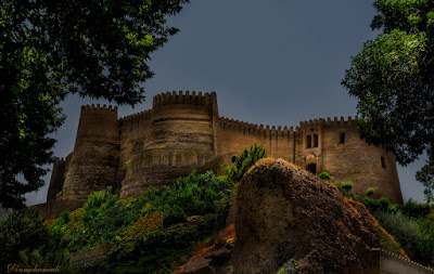 Falak-ol-Aflak Castle situated on the top of a large hill with the same name within the city of Khorramabad, the regional capital of Lorestan province, Iran.
