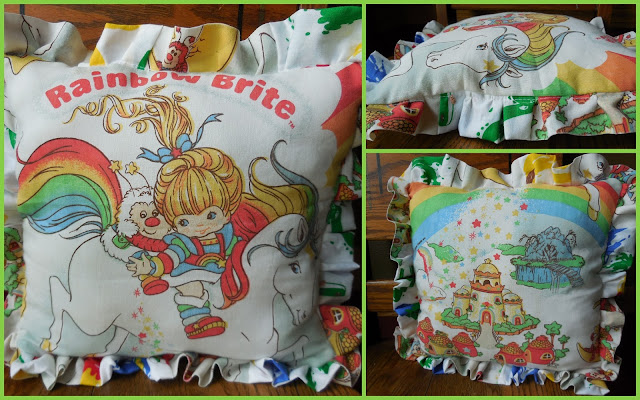 rainbow brite pillow