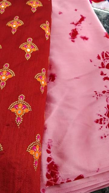 Satin Shibori Saree with designer blouses | Price | Buy online | cost