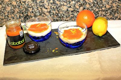Cheescake,se ha utilizado mermelada de naranja dulce el Ababol