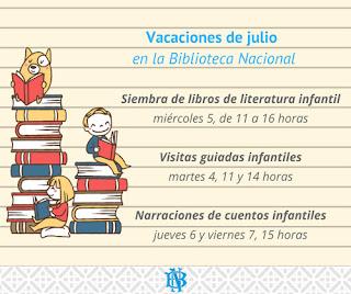 Actividades infantiles en la Biblioteca Nacional del Uruguay.