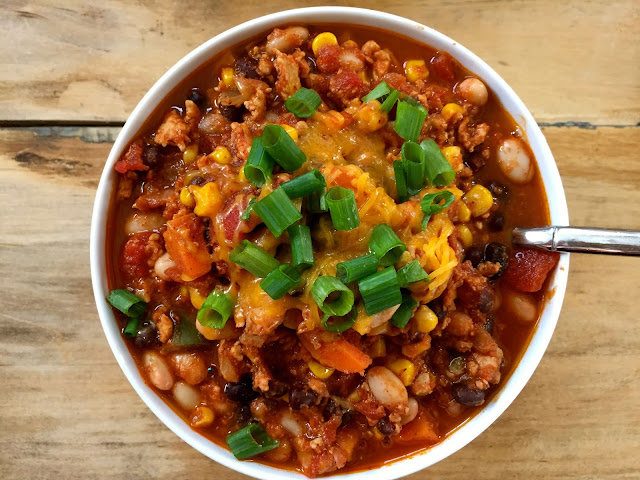 http://www.acedarspoon.com/white-and-black-bean-turkey-chili/