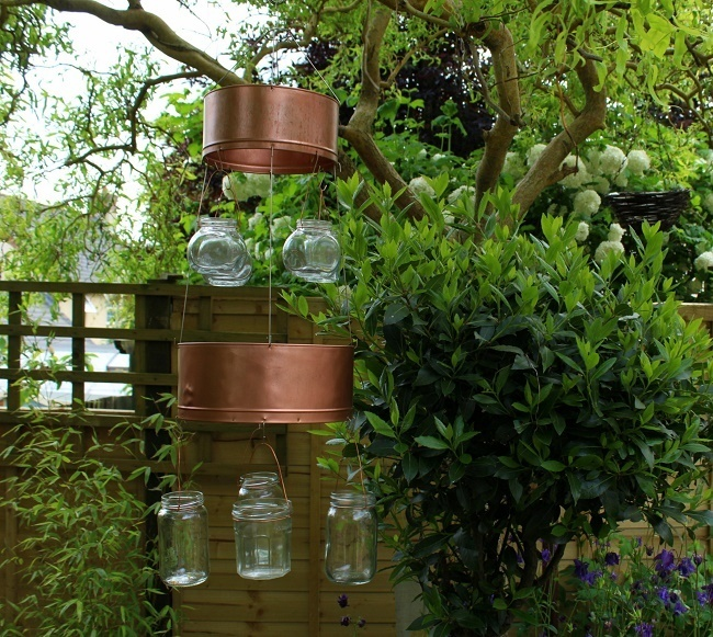 Our Diy Garden Chandelier gets a seasonal update