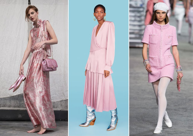Pink styles from Armani, Fendi and Chanel