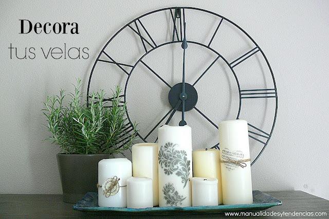 Cómo decorar velas con sellos